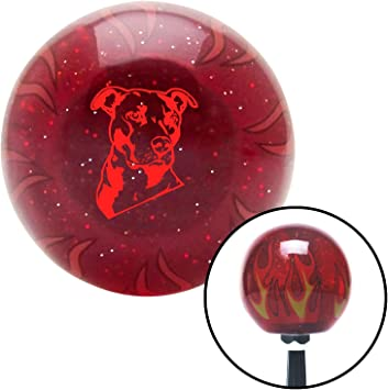 American Shifter 97667 Red Shift Knob with M16 x 1.5 Insert Black Officer 11 - General of Air Force