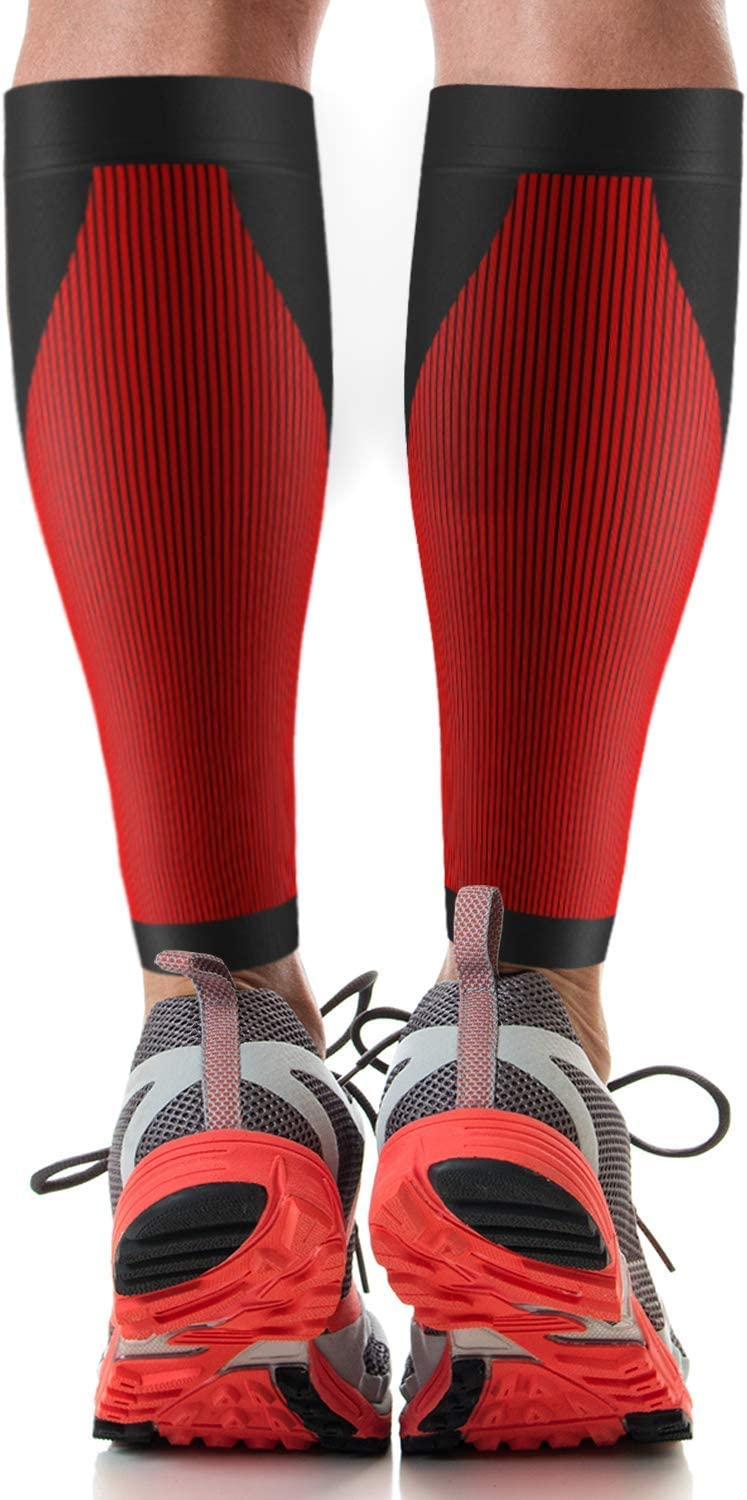 UFlex Athletics Graduated Compression Calf Sleeve - Fit Wraps Designed for Professional Athletes - Supports Pain Relief, Shin Splints, Arthritis and Varicose Veins