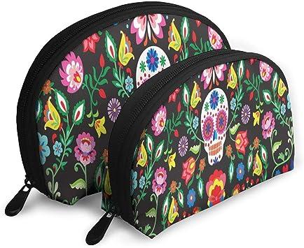 Bolsa de Maquillaje Taro y Flores Tropicales Estuche de Maquillaje de Concha portátil para niñas Paquete 2: Amazon.es: Equipaje