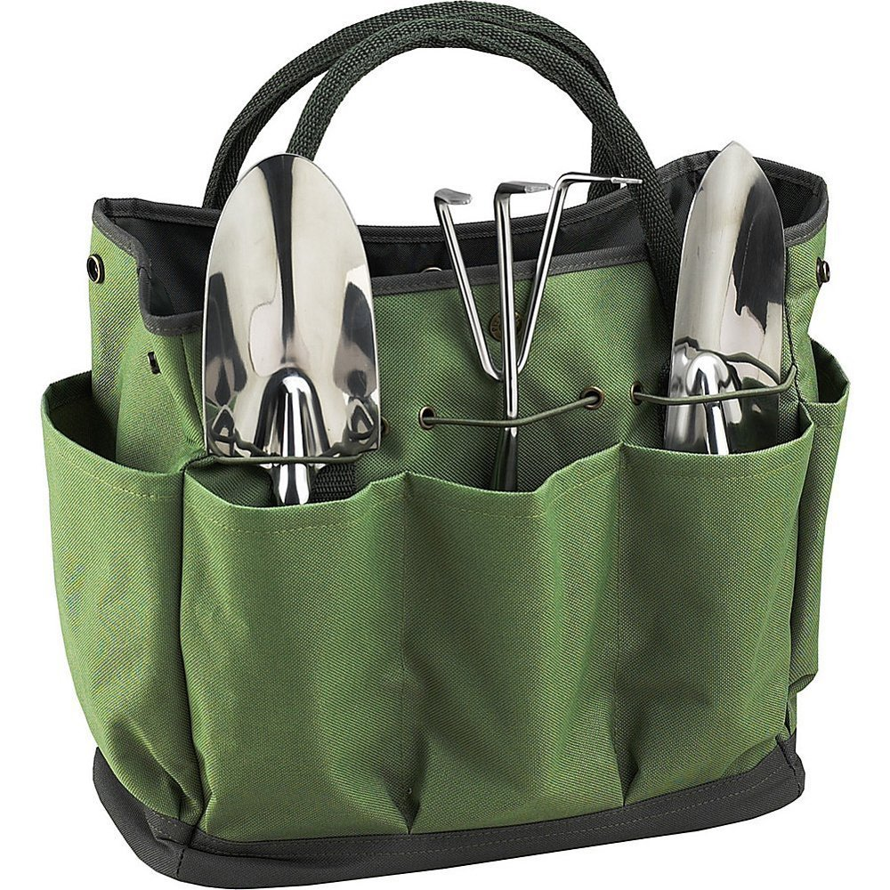 Graden Tool Bag Shoulder Strap Has Pockets Tool Storage Organiser, Can Fit Long Screwdrivers Klein Tools Waterproof Oxford Fabric Multi Pocket Bag for Tools Toolkits (34.317.230.5 CM, Army Green) by KASOS (Image #3)