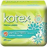 Kotex Fresh Ultrathin Anti-Bacterial Feminine Care Liners, 25ct