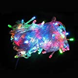 イルミネーションLEDライト カラー:ミックス【全長8M】LED100灯 点灯8パターン・コントローラ付 最大10連結80mまで可能!