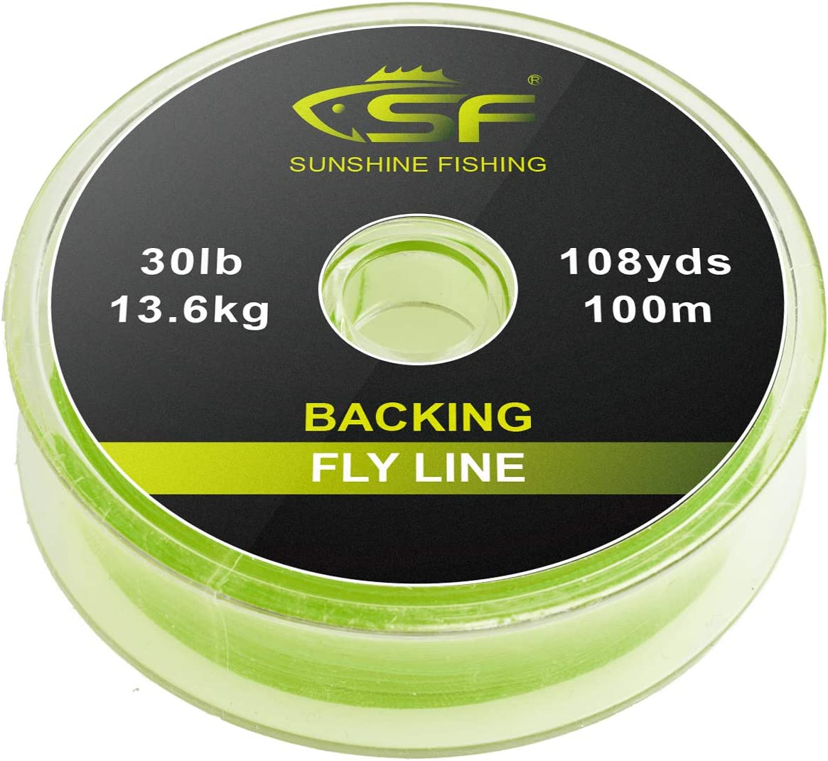 300 m Erg/änzung f/ür Fliegenschnur und Forellenangeln Geflochtene F/üllschnur von SF Traglast: 9 kg,13,6 kg; L/änge: 100 m