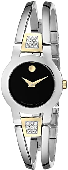 674d761e326 Image Unavailable. Image not available for. Colour  Movado Women s 604983 Amorosa  Diamond Accented Bangle Bracelet Watch