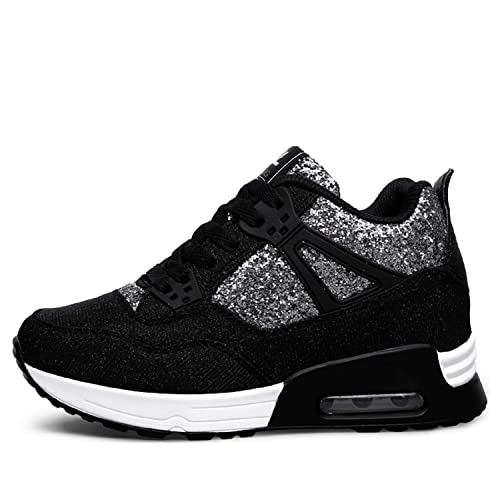 AONEGOLD Zapatillas Deportivas Plataforma Cuña para Mujer Zapatos Alta Sneakers Wedges Interior Talón: Amazon.es: Zapatos y complementos