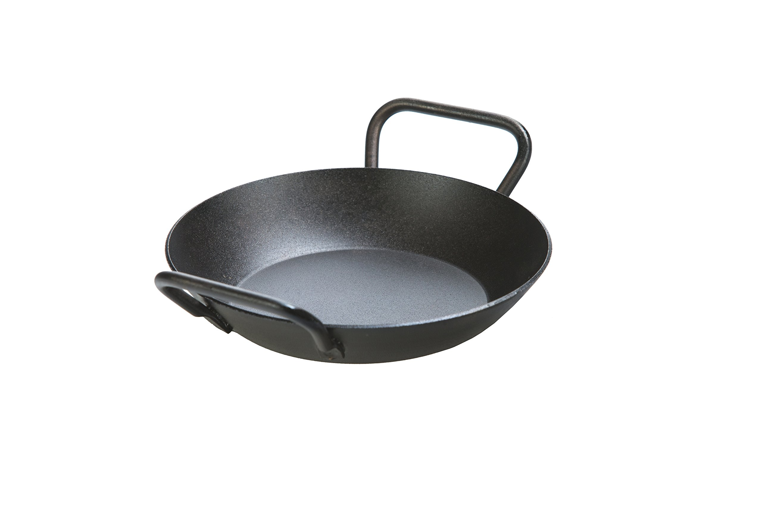 Lodge Manufacturing Company CRS8DLH Carbon Steel Skillet, 8'', Black