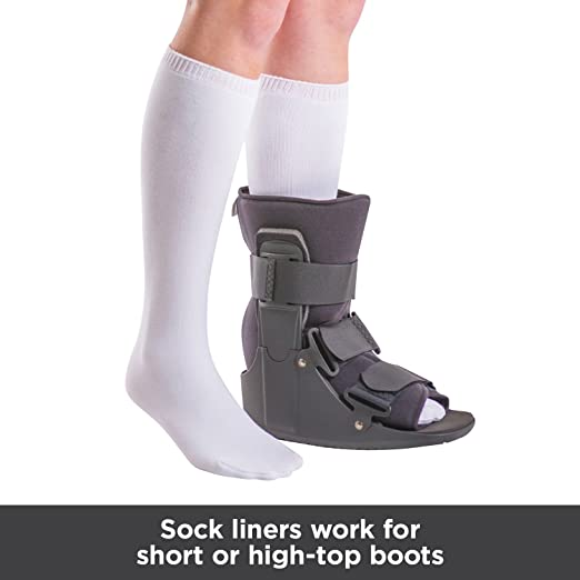 BraceAbility Replacement Sock Liner for Orthopedic Walking Boots | Medical  Tube Socks to wear under Air