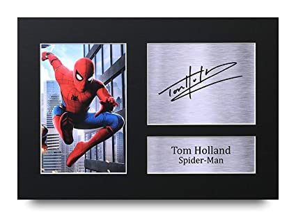 6d7b55135b972 HWC Trading Tom Holland Gift Signed A4 Printed Autograph Spider-Man ...