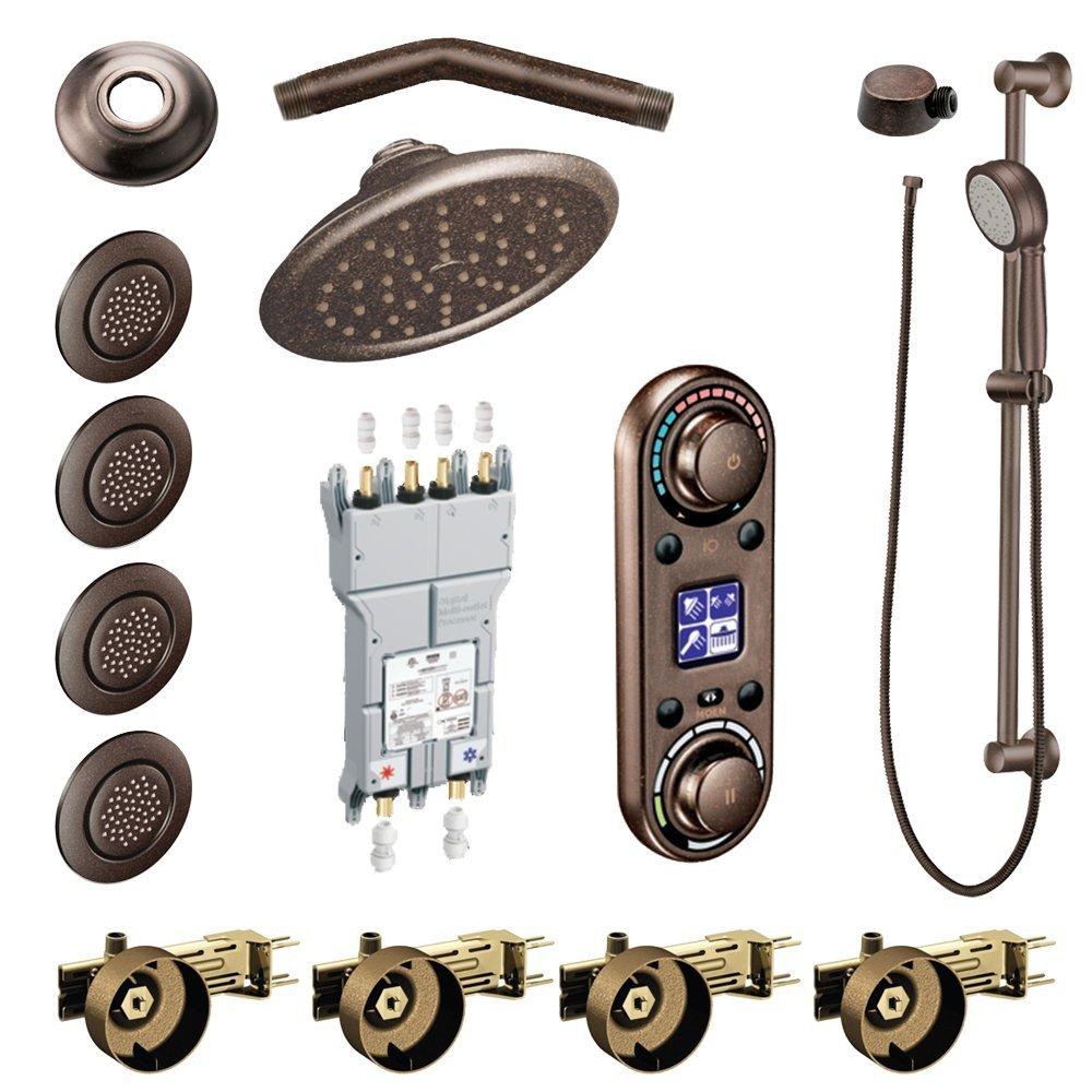 Moen KSPIO-HSB-TS296ORB Vertical Spa Kit with Handheld Shower and Slide Bar, Oil Rubbed Bronze