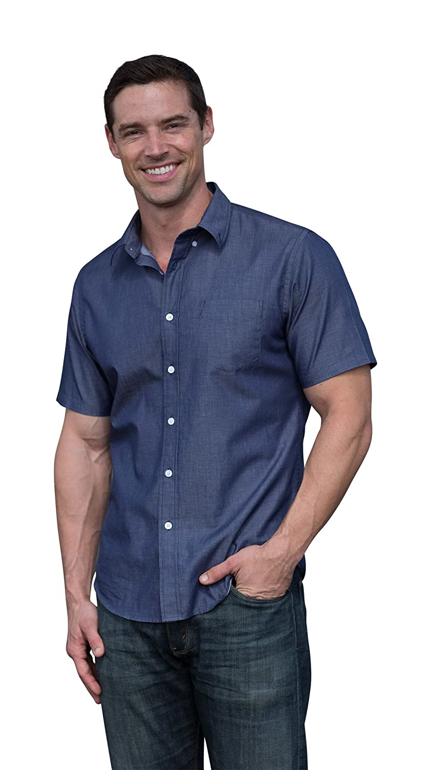 03e07751862 DESIGNER QUALITY - LOOKS and FEELS like a designer quality button-down.  WATERPROOF - The Best Shirt Ever s hydrophobic fabric allows you to stay  dry on a ...