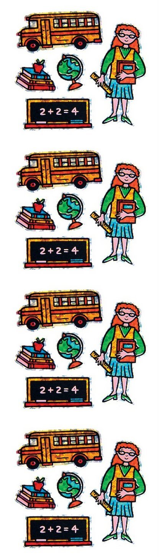 Mini Teacher S7259 Jillson Roberts Prismatic Stickers 12-Sheet Count