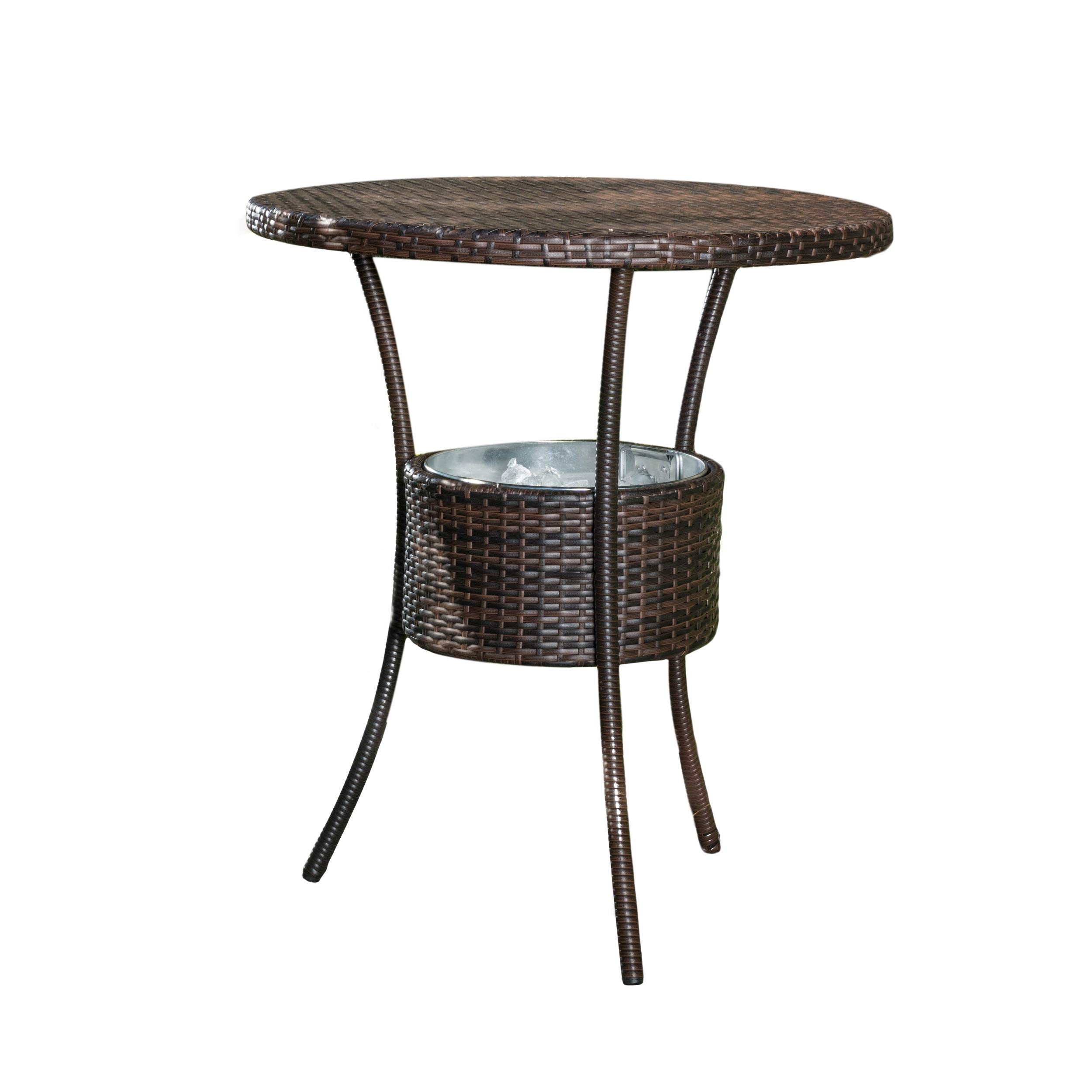 Christopher Knight Home Tampa Bay Multi Brown PE Table with Ice Pail