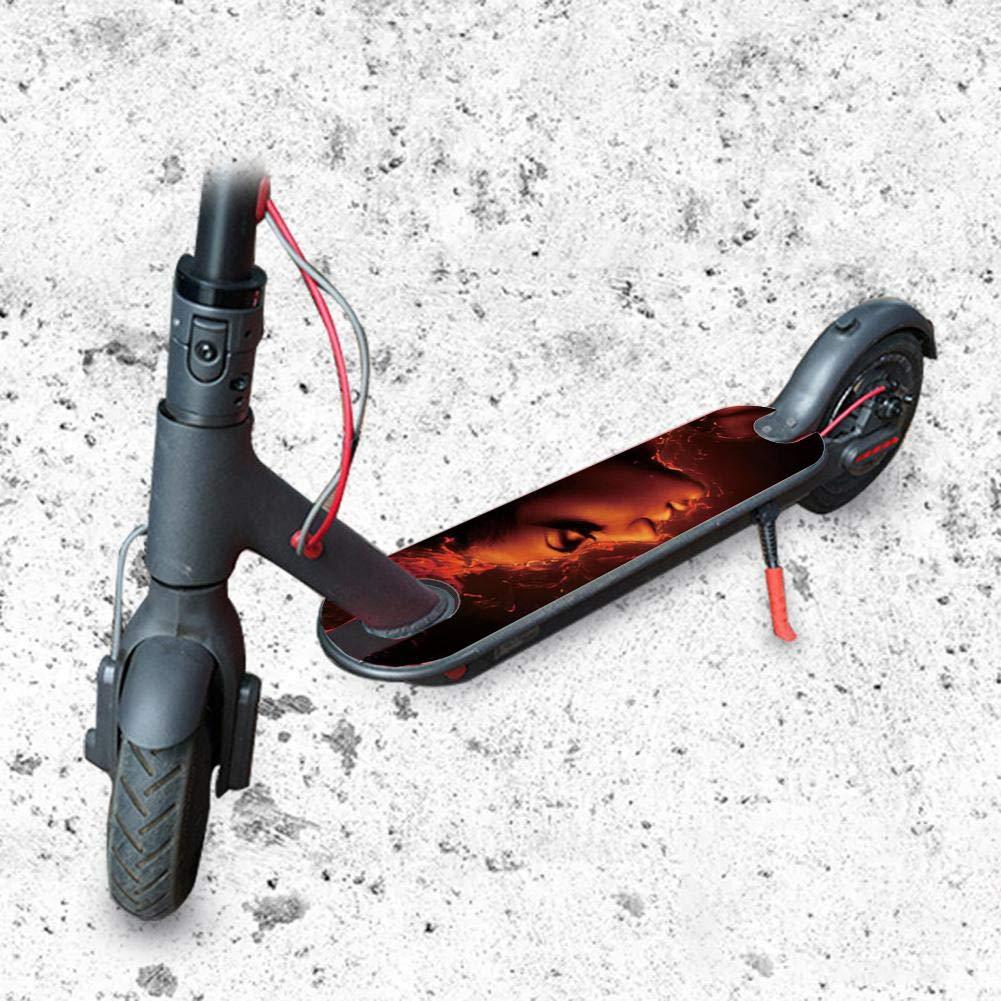 Protector Solar Impermeable Personalidad Mat Pegatina para Xiaomi Mijia M365 Scooter approving awhao-123 Pegatina de Pedal Scooter para Xiaomi M365