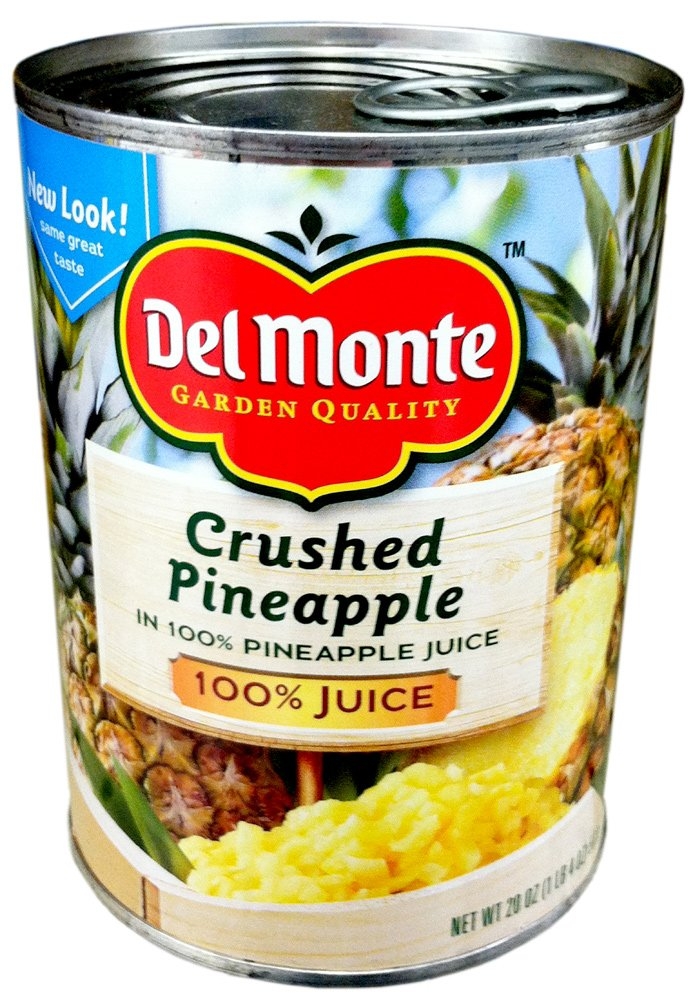 Del Monte CRUSHED PINEAPPLE in 100% Pineapple Juice 20oz (3 Pack)