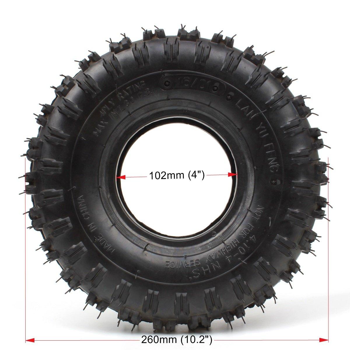 wingsmoto 4.10 - 4 410 - 4 4,10/3,50 - 4 neumático + tubo interior para jardín Rototiller soplador de nieve GO Cart Kid ATV: Amazon.es: Coche y moto