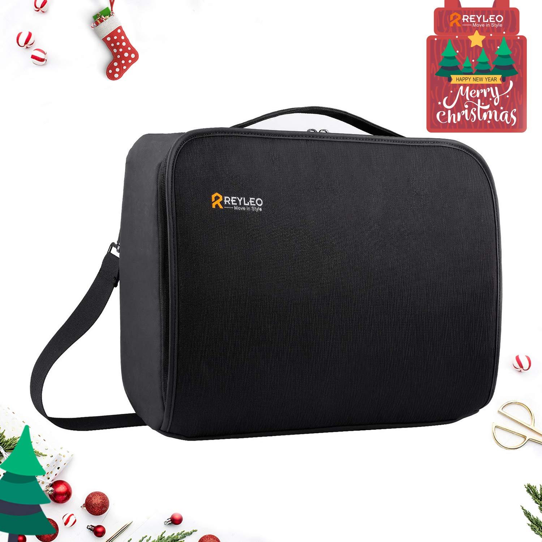 REYLEO Borsa per PC portatile 15.6 pollici e tablet Uomo Laptop Borsa Messenger a Spalla Borsa a Tracolla Multifunzione da Viaggio Impermeabile per Lavoro/Ufficio Nero LCB1A