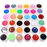 DancingNail 36 Farben Nail Art UV Gel Set Farbgel Gele Glitter Puder Nagel Design Nagel Kunst spitzt