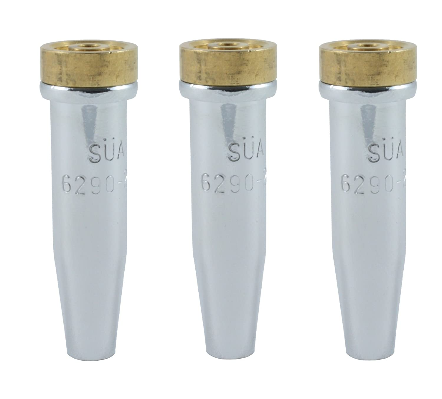 (3 PACK) SÜ A - 6290-NX Series Propane Cutting Tip - Compatible with Harris. Sizes: 4, 5 and 6 SÜA