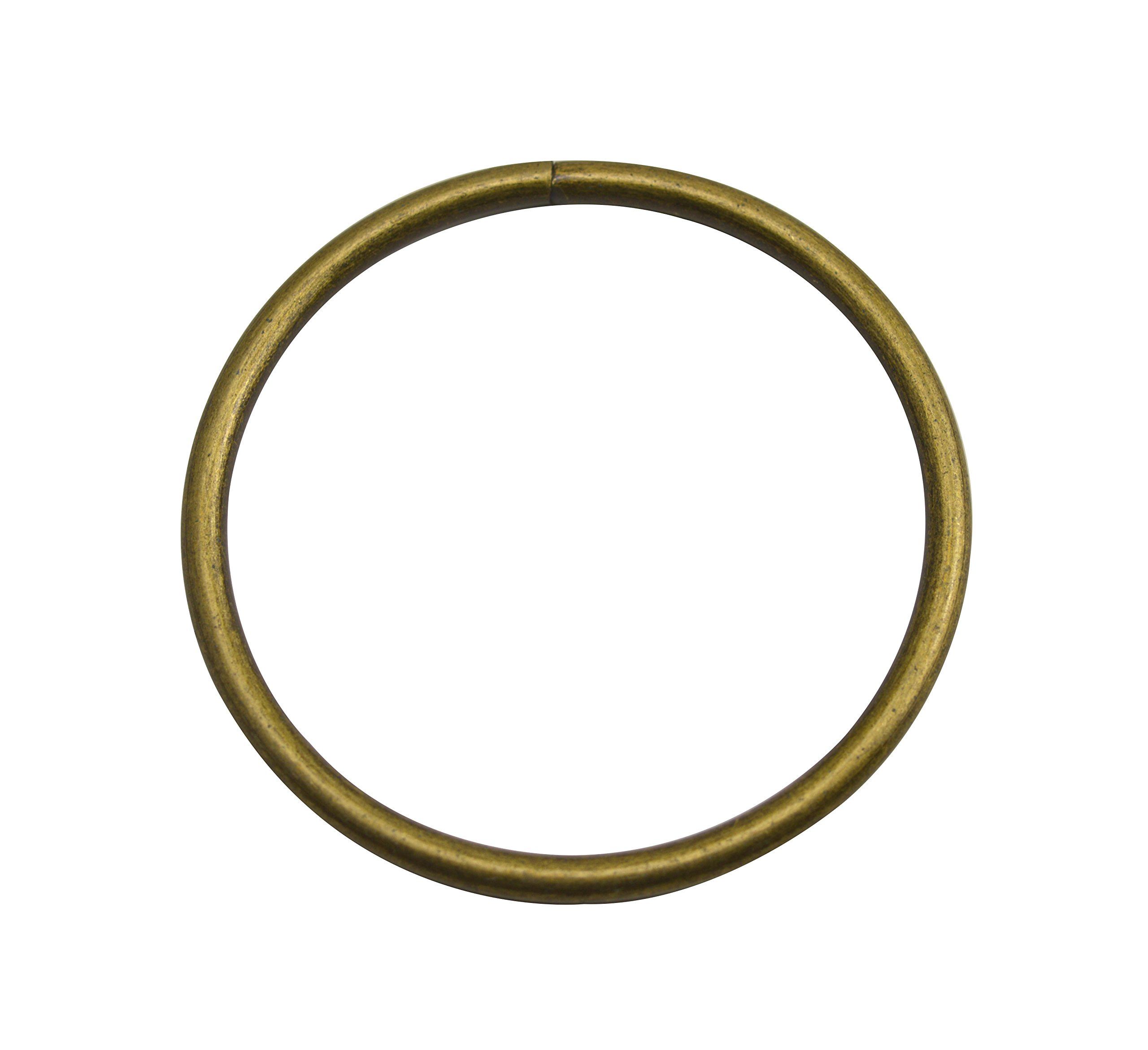 Wuuycoky Bronze 3'' Inner Diameter O-Rings Rings Non Welded Strap Adjuster Webbing Belts Buckle Pack of 10