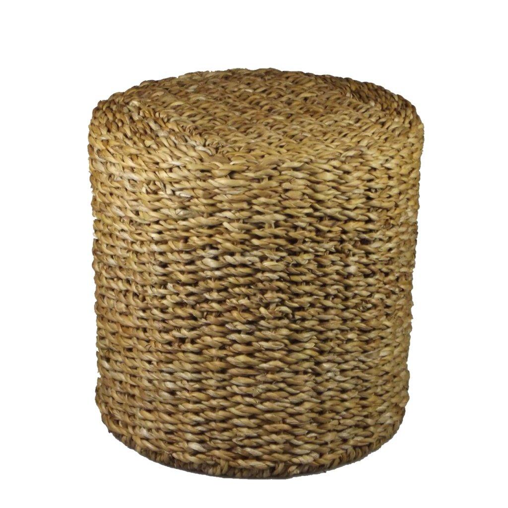 Hocker Sitzhocker   Beistelltisch Rund   Seegras   Natur   Fair Trade (Groß)