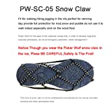 Traction Cleats for Walking on Snow ,Snow Grips Ice Creepers Over Shoe Boot,Rubber Anti Slip spikes for Footwear ,Ice Grips Crampon Spikes Ice Snow Grippers for Boots and Shoes Ice Cleats Walk Tractio