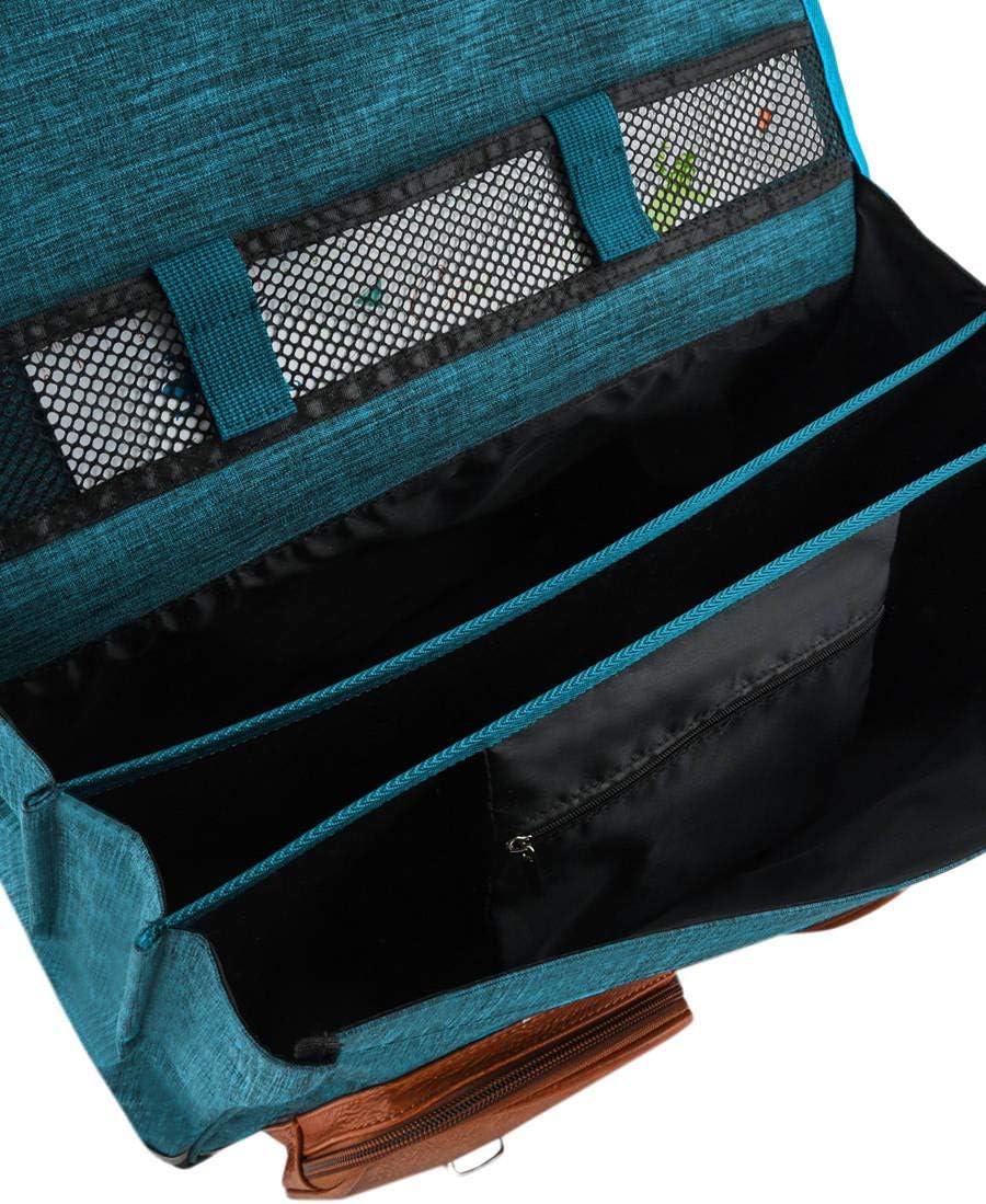 Cartable 41cm Cam/él/éon Vintage avec 3 Compartiments Id/éal pour l/école Primaire et la rentr/ée Scolaire en CM1 et CM2 pour Fille et gar/çon