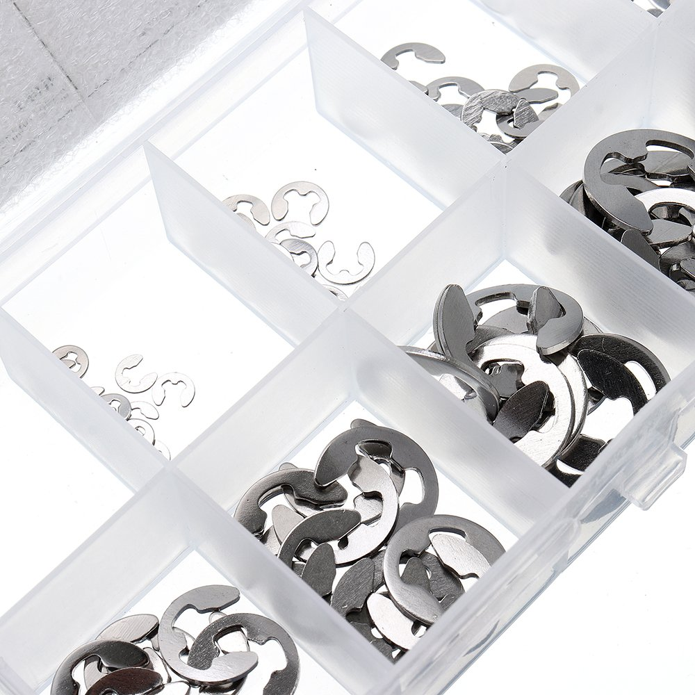 MYAMIA Kit DAssortiment DE-Clip De Suleve Mxse1 120Pcs INOX 1.5-10Mm Kit DOutils Circlips