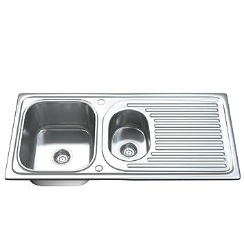 Dihl, KS 1502 WST2, lavello da cucina con una vaschetta e mezza, in ...