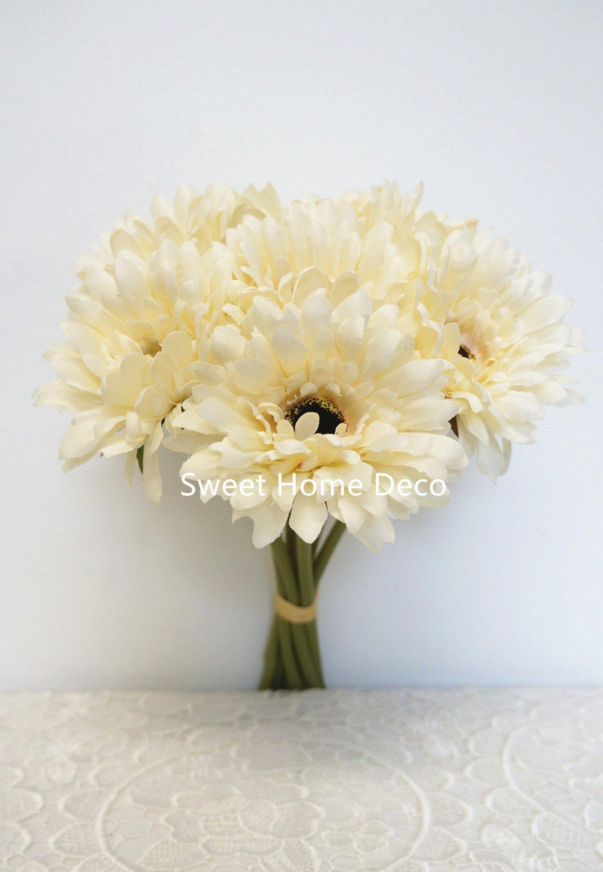 Sweet-Home-Deco-13-Silk-Artificial-Gerbera-Daisy-Flower-Bunch-W-7stems-7-Flower-Heads-HomeWedding
