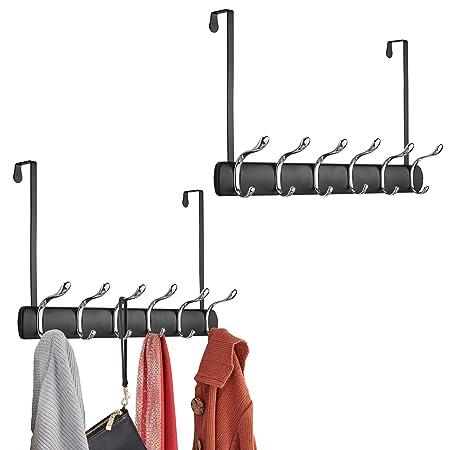 Mdesign 2er Set Turgarderobe Zum Einhangen 12 Garderobenhaken Zum