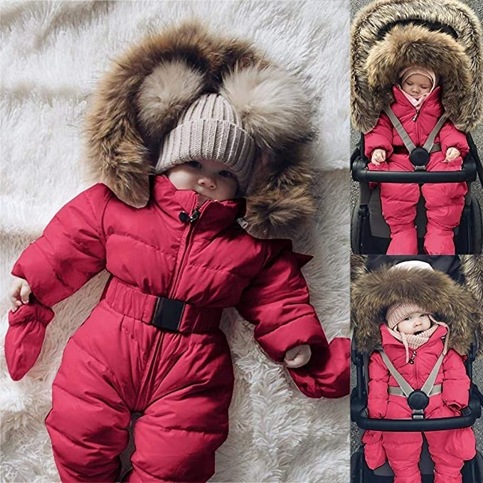 Amazon.com: Infant Newborn Baby Hoodie Down Jacket Jumpsuit Pram Snuggly Snow Suit: Clothing