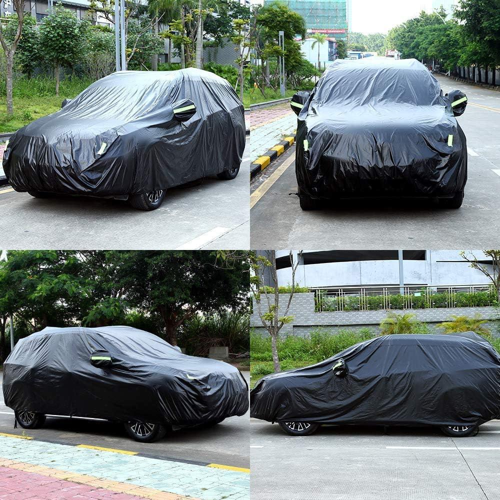 NOVSIGHT Housse de Voiture SUV Taille L B/âche de Auto en 420D Oxford Noir 485x190x180CM Anti-Poussi/ère Anti-UV Etanche