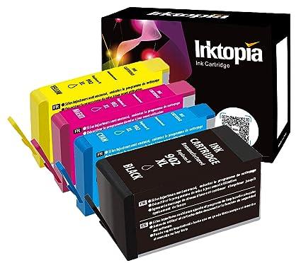 Ink Topia902XL - 4 cartuchos de tinta remanufacturados de repuesto ...
