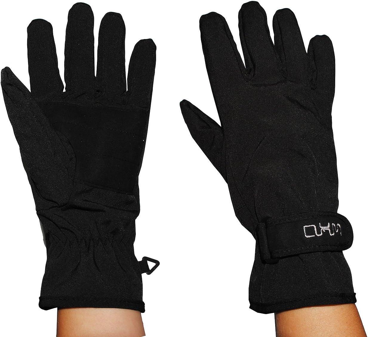 alles-meine.de GmbH Fingerhandschuhe Softshell schwarz Gr/ö/ße: 10 bis 15 Jahre Thermo gef/üttert mit Fleece atmungsaktiv Soft Shell -.. d/ünner Thermohandschuh wasserdicht