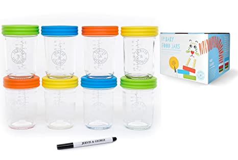 Amazoncom Glass Baby Food Storage Containers Set contains 8