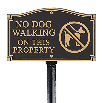 """SmartSign """"No Dog Walking On This Property"""" GardenBoss Statement Plaque 