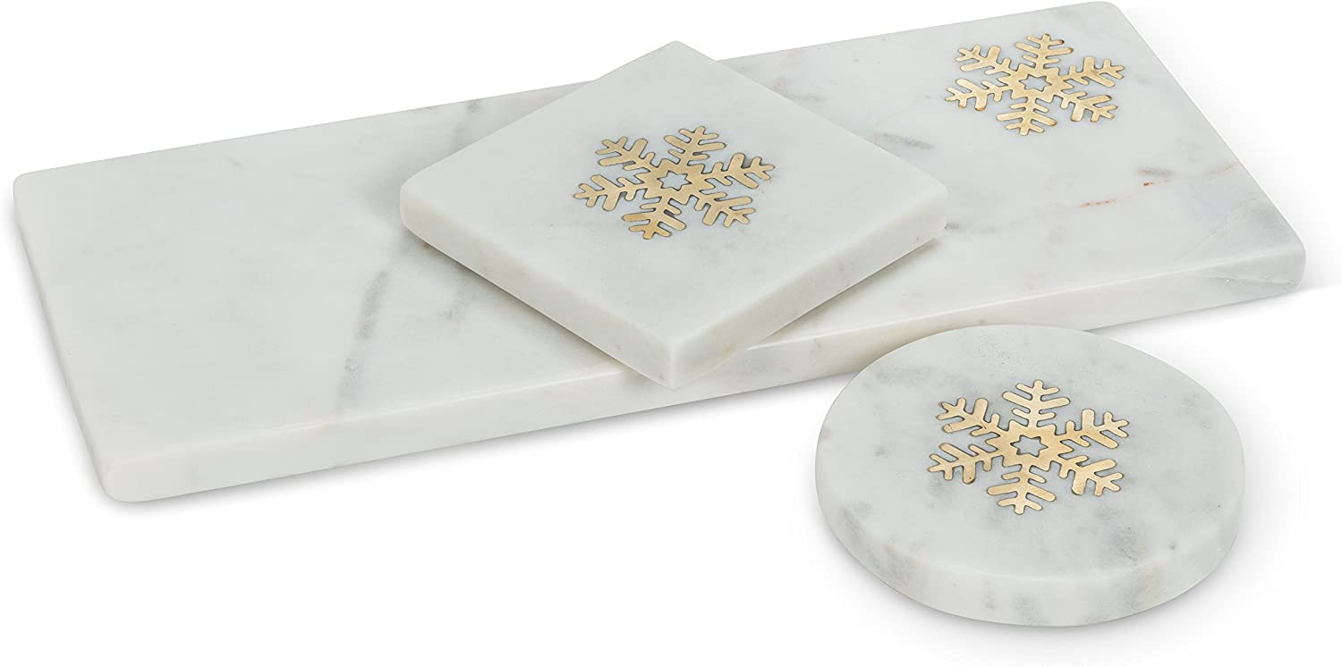 Abbott Collection 59-INLAY-4854 Serving Board White