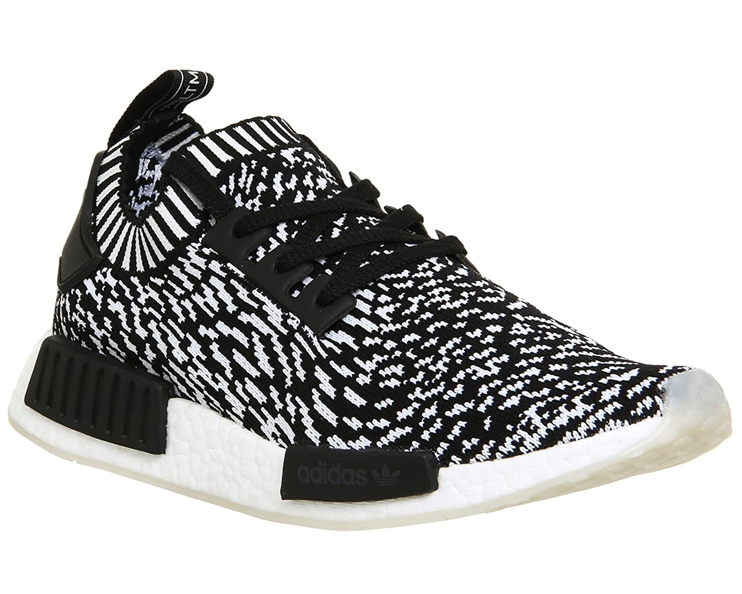 new product 0cdc3 3f3cd Amazon.com   adidas NMD R1 Primeknit (7.5 D(M) US, Black)   Trail Running