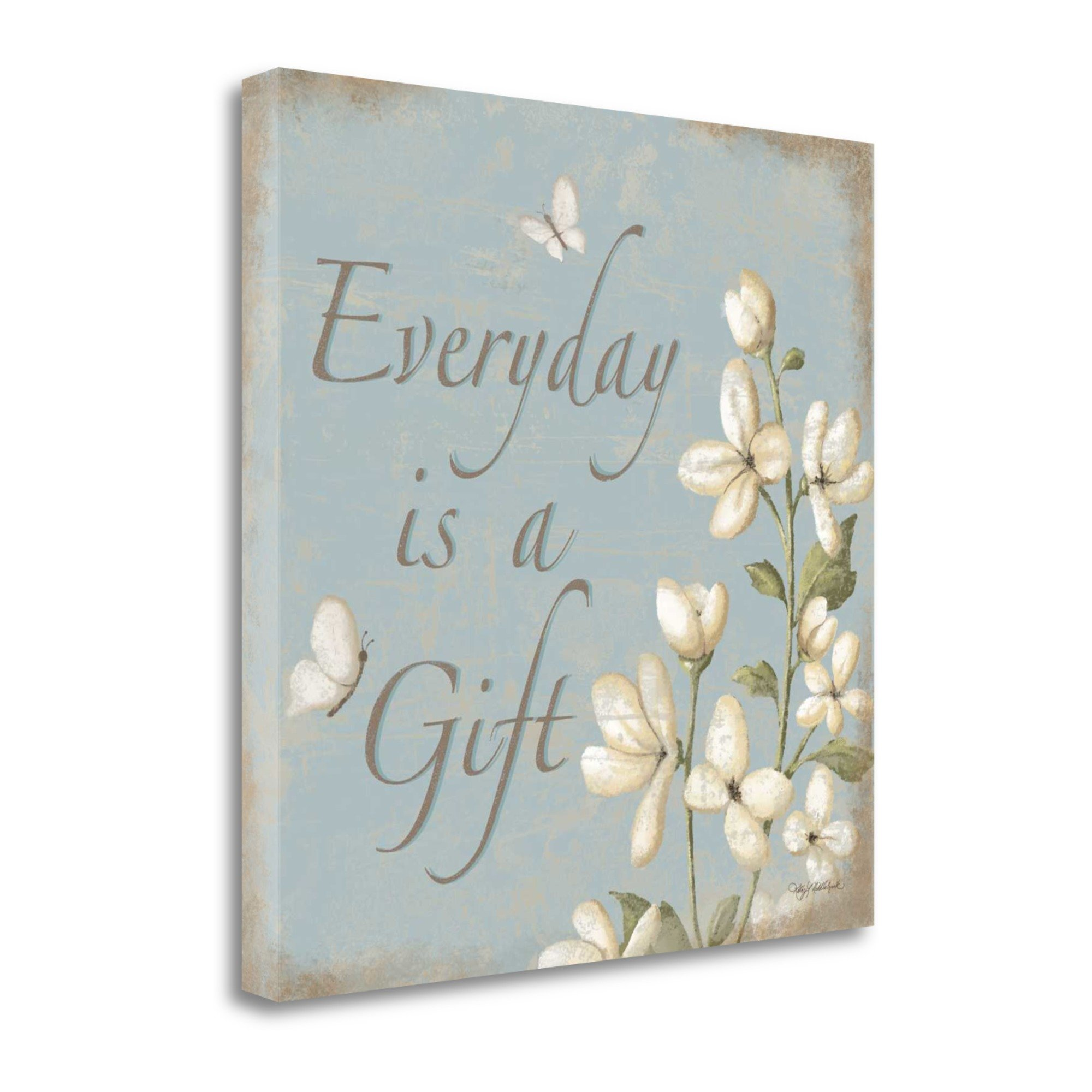 ''Everyday Is A Gift'' By Kathy Middlebrook, Fine Art Giclee Print on Gallery Wrap Canvas, Ready to Hang by Tangletown Fine Art
