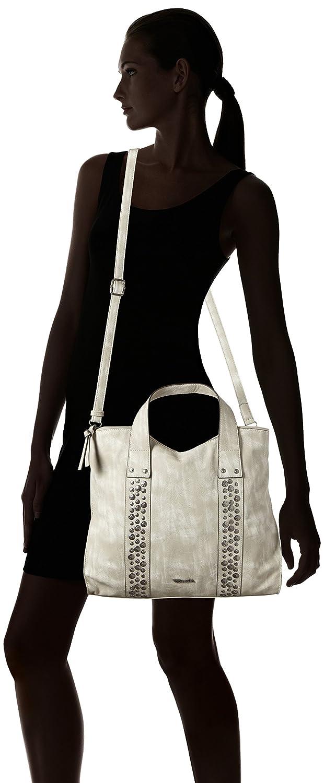 Damen Ursula Shopping Bag Schultertasche, Schwarz (Black), 11x30x36 cm Tamaris