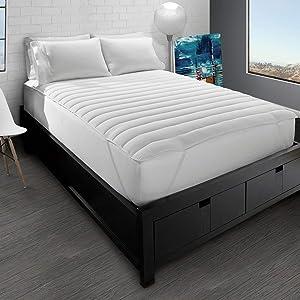 Ella Jayne Home Collection Big and Soft Down Alternative Fiber Bed Mattress Pad, Full