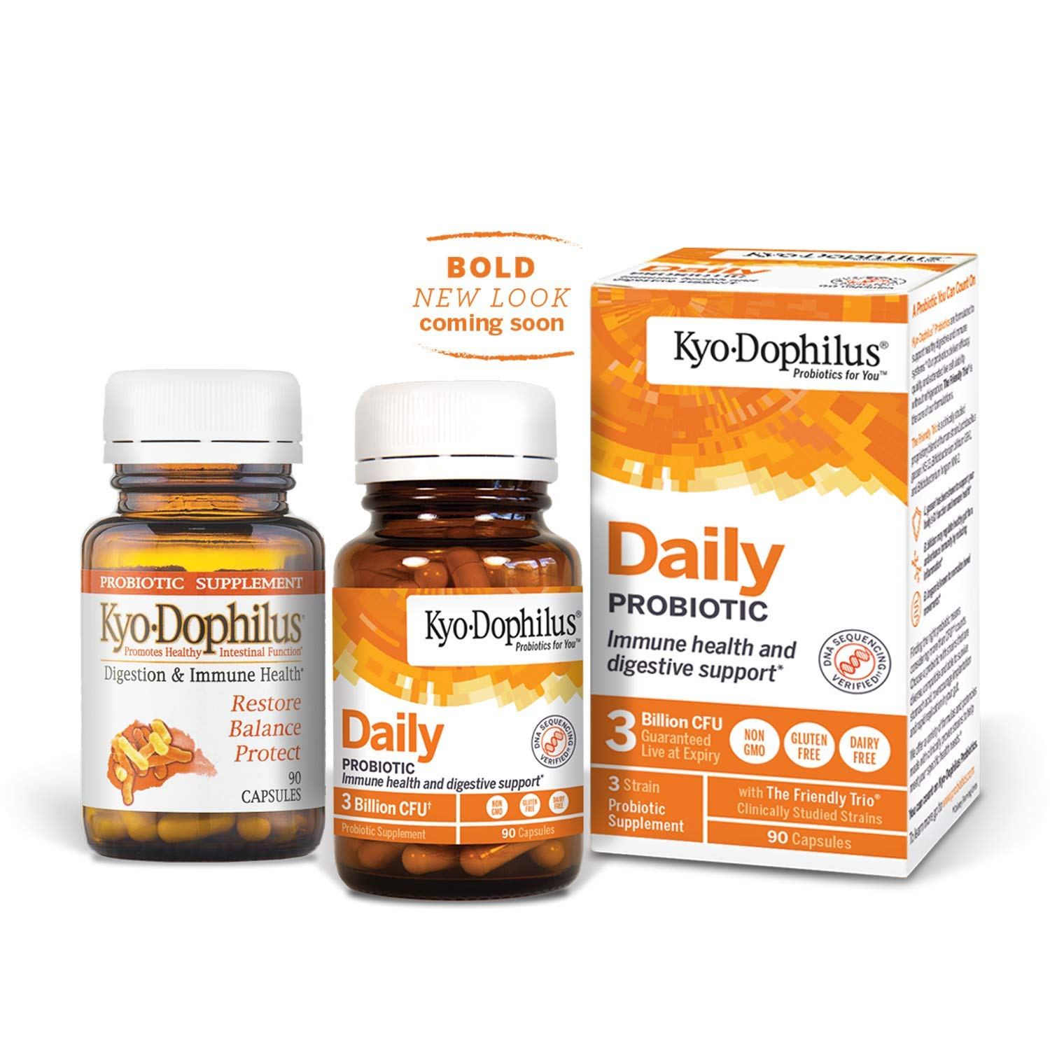 Kyo-Dophilus Digestion & Immune Health Probiotic Supplement, 90 Capsules  Soy & Gluten Free,