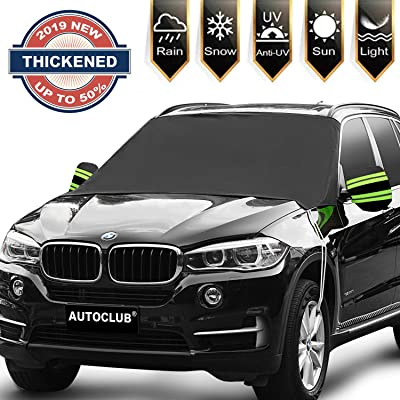 "AUTOCLUB Car Windshield Snow Cover,3-Layer Protection&Double Side Design,Snow, Ice, Frost,UV Full Protection,Extra Large & Thick Fit for Most Vehicle(87""x50"") (Windshield): Automotive"