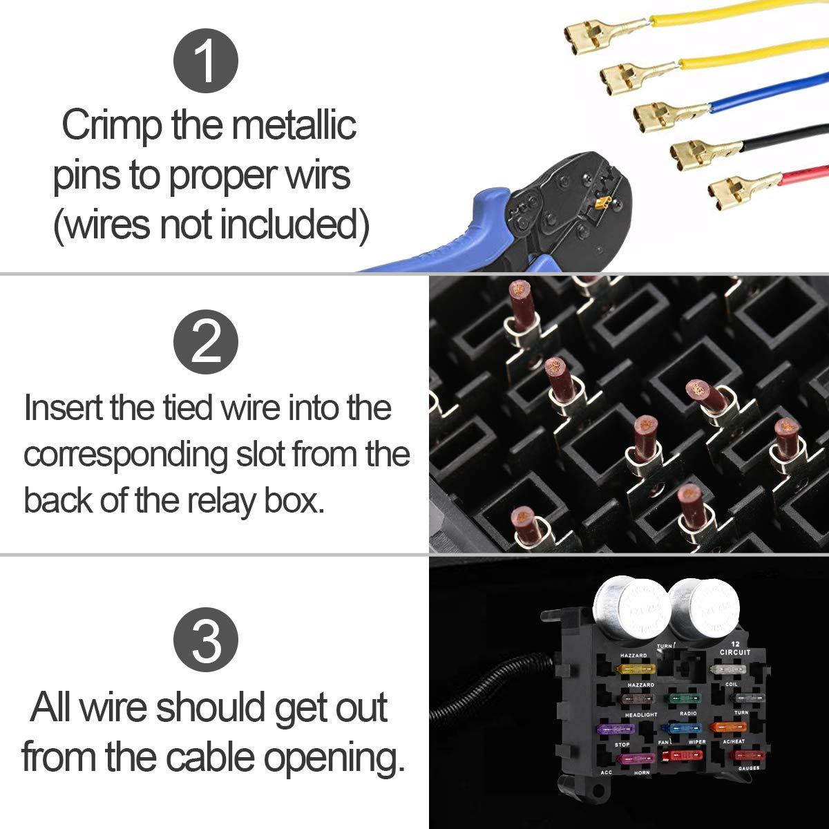 Lighting & Electrical Jiaying 12-Way Blade Fuse Block 12-Way Fuse ...