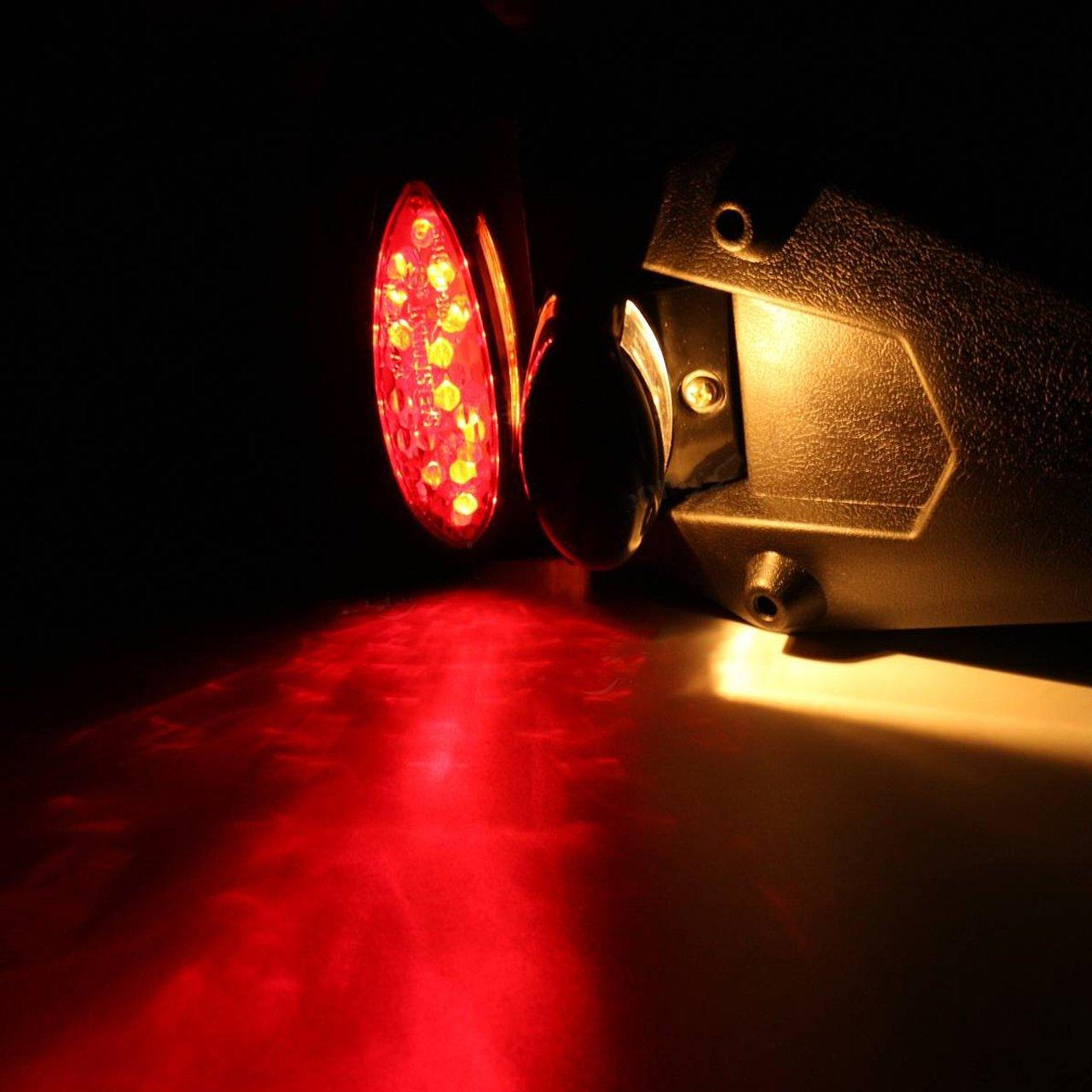 NATGIC Feu arri/ère de Moto arri/ère LED r/éflecteur Universel pour Motocross MX Sport Pit Dirt Bike Coque Blanche