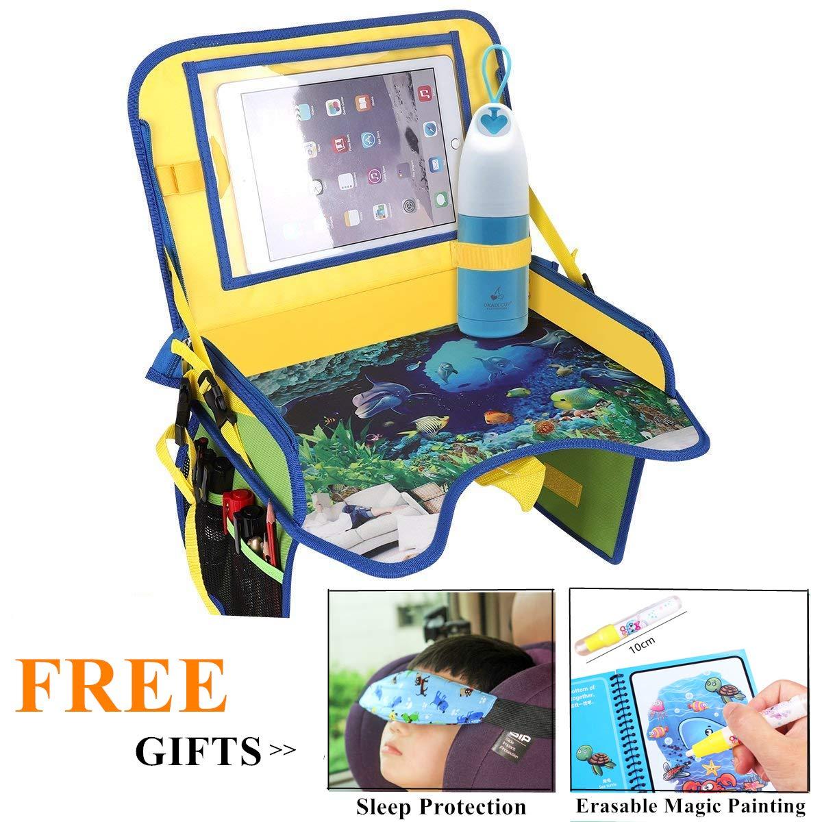 ECOOLBUY Multifunktions-Autositz fü r Kinder, tragbar, fü r Spiel- und Essensablage, Kinderwagen, verstellbar,