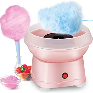 Cotton Candy Machine for Kids, Kacsoo Electric Cotton Candy Maker, Mini Portable Cotton Candy Floss Maker Floss Sugar with Cotton Candy Cones for Home Birthday Family Party Christmas Gift