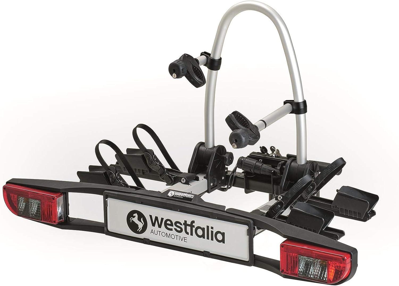 Westfalia-Automotive Westfalia 350036600001 BC 60 (Versione 2018) | Portabici richiudibile per 2 Compatibile con Le Biciclette elettriche |capacit� Massima di 60kg