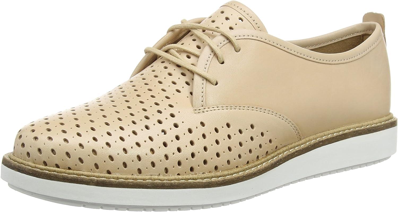 Clarks Glick Resseta, Zapatos de Cordones Derby para Mujer, Beige (Nude Leather), 35.5 EU