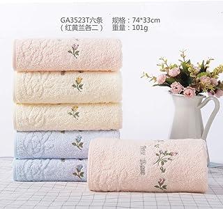 JUNHONGZHANG Baumwolltuch Frisch Und Elegant Stieg Saugfähiges Handtuch des Gesichttuches des Rosafarbenen Gesichtes